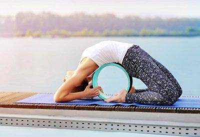 yoga wheel backbend