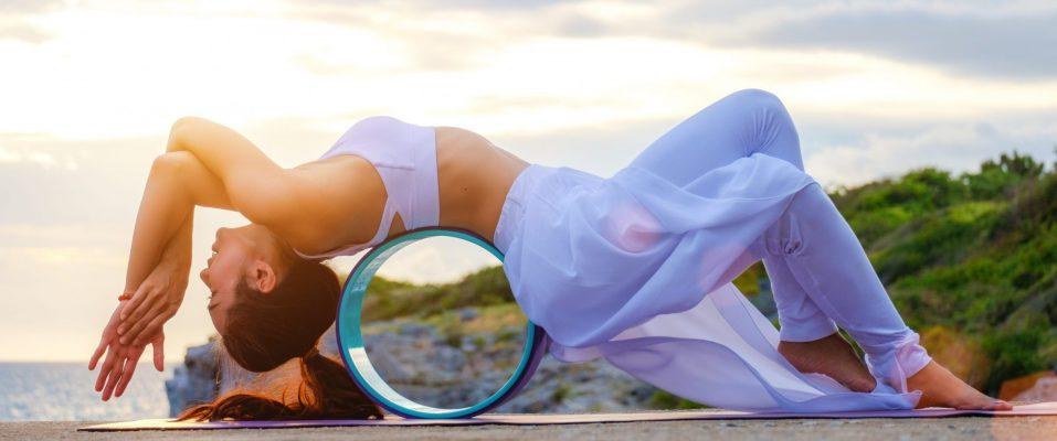 yoga wheel stretch